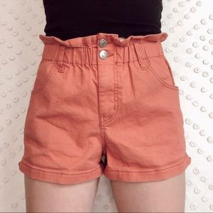 WILD FABLE dusty rose paper bag high rise shorts